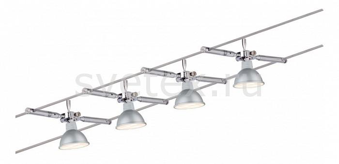 Комплект PaulmannСтрунные светильники<br>Артикул - PA_94120,Бренд - Paulmann (Германия),Коллекция - 9412,Гарантия, месяцы - 24,Длина, мм - 10000,Ширина, мм - 160,Тип лампы - светодиодная [LED],Общее кол-во ламп - 4,Напряжение питания лампы, В - 220,Максимальная мощность лампы, Вт - 4,Цвет лампы - белый,Лампы в комплекте - светодиодные [LED] GU5.3,Цвет плафонов и подвесок - хром,Тип поверхности плафонов - глянцевый,Материал плафонов и подвесок - металл,Цвет арматуры - хром,Тип поверхности арматуры - глянцевый,Материал арматуры - металл,Количество плафонов - 4,Форма и тип колбы - полусферическая с рефлектором,Тип цоколя лампы - GU5.3,Цветовая температура, K - 4000 K,Класс электробезопасности - II,Общая мощность, Вт - 16,Степень пылевлагозащиты, IP - 20,Диапазон рабочих температур - комнатная температура,Дополнительные параметры - расстояние между струнами 160 мм<br>