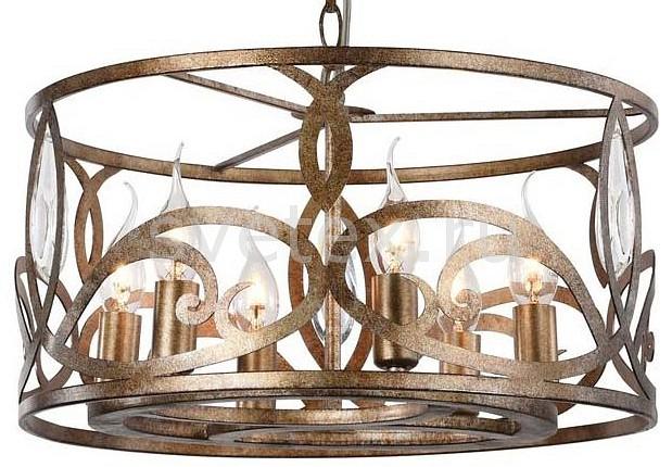 Подвесной светильник MaytoniСветодиодные<br>Артикул - MY_H237-06-G,Бренд - Maytoni (Германия),Коллекция - Eisner,Гарантия, месяцы - 24,Высота, мм - 580-910,Диаметр, мм - 435,Размер упаковки, мм - 500x500x290,Тип лампы - компактная люминесцентная [КЛЛ] ИЛИнакаливания ИЛИсветодиодная [LED],Общее кол-во ламп - 6,Напряжение питания лампы, В - 220,Максимальная мощность лампы, Вт - 40,Лампы в комплекте - отсутствуют,Цвет плафонов и подвесок - золото мраморное,Тип поверхности плафонов - глянцевый,Материал плафонов и подвесок - металл,Цвет арматуры - золото мраморное,Тип поверхности арматуры - глянцевый,Материал арматуры - металл,Количество плафонов - 1,Возможность подлючения диммера - можно, если установить лампу накаливания,Форма и тип колбы - свеча ИЛИ свеча на ветру,Тип цоколя лампы - E14,Класс электробезопасности - I,Общая мощность, Вт - 240,Степень пылевлагозащиты, IP - 20,Диапазон рабочих температур - комнатная температура,Дополнительные параметры - способ крепления светильника к потолку - на монтажной пластине, регулируется по высоте<br>