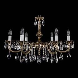 Подвесная люстра Bohemia Ivele Crystal5 или 6 ламп<br>Артикул - BI_1702_6_A_GB,Бренд - Bohemia Ivele Crystal (Чехия),Коллекция - 1702,Гарантия, месяцы - 12,Высота, мм - 500,Диаметр, мм - 750,Размер упаковки, мм - 510x510x200,Тип лампы - компактная люминесцентная [КЛЛ] ИЛИнакаливания ИЛИсветодиодная [LED],Общее кол-во ламп - 6,Напряжение питания лампы, В - 220,Максимальная мощность лампы, Вт - 40,Лампы в комплекте - отсутствуют,Цвет плафонов и подвесок - неокрашенный,Тип поверхности плафонов - прозрачный,Материал плафонов и подвесок - хрусталь,Цвет арматуры - золото черненое,Тип поверхности арматуры - глянцевый, рельефный,Материал арматуры - металл,Возможность подлючения диммера - можно, если установить лампу накаливания,Форма и тип колбы - свеча ИЛИ свеча на ветру,Тип цоколя лампы - E14,Класс электробезопасности - I,Общая мощность, Вт - 240,Степень пылевлагозащиты, IP - 20,Диапазон рабочих температур - комнатная температура,Дополнительные параметры - способ крепления светильника к потолку – на крюке<br>