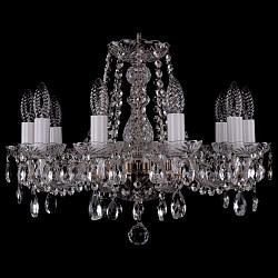Подвесная люстра Bohemia Ivele CrystalБолее 6 ламп<br>Артикул - BI_1402_10_160_Pa,Бренд - Bohemia Ivele Crystal (Чехия),Коллекция - 1402,Гарантия, месяцы - 24,Высота, мм - 410,Диаметр, мм - 510,Размер упаковки, мм - 510x510x200,Тип лампы - компактная люминесцентная [КЛЛ] ИЛИнакаливания ИЛИсветодиодная [LED],Общее кол-во ламп - 10,Напряжение питания лампы, В - 220,Максимальная мощность лампы, Вт - 40,Лампы в комплекте - отсутствуют,Цвет плафонов и подвесок - неокрашенный,Тип поверхности плафонов - прозрачный,Материал плафонов и подвесок - хрусталь,Цвет арматуры - неокрашенный, патина,Тип поверхности арматуры - глянцевый, прозрачный,Материал арматуры - металл, стекло,Возможность подлючения диммера - можно, если установить лампу накаливания,Форма и тип колбы - свеча,Тип цоколя лампы - E14,Класс электробезопасности - I,Общая мощность, Вт - 400,Степень пылевлагозащиты, IP - 20,Диапазон рабочих температур - комнатная температура,Дополнительные параметры - способ крепления светильника к потолку – на крюке<br>