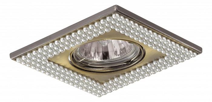 Встраиваемый светильник NovotechСветильники для натяжных потолков<br>Артикул - NV_370146,Бренд - Novotech (Венгрия),Коллекция - Pearl,Гарантия, месяцы - 24,Время изготовления, дней - 1,Длина, мм - 102,Ширина, мм - 102,Глубина, мм - 16,Размер врезного отверстия, мм - 75,Тип лампы - галогеновая ИЛИсветодиодная [LED],Общее кол-во ламп - 1,Напряжение питания лампы, В - 12,Максимальная мощность лампы, Вт - 50,Лампы в комплекте - отсутствуют,Цвет арматуры - белый, бронза,Тип поверхности арматуры - глянцевый, рельефный,Материал арматуры - искусственный жемчуг, цинк,Необходимые компоненты - трансформатор 12В,Компоненты, входящие в комплект - нет,Форма и тип колбы - полусферическая с рефлектором,Тип цоколя лампы - GX5.3,Класс электробезопасности - III,Напряжение питания, В - 220,Степень пылевлагозащиты, IP - 20,Диапазон рабочих температур - комнатная температура,Дополнительные параметры - поворотный светильник — угол поворота 30°<br>