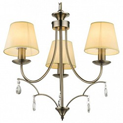 Подвесная люстра GloboТекстильные плафоны<br>Артикул - GB_69026-3,Бренд - Globo (Австрия),Коллекция - 69026,Гарантия, месяцы - 24,Высота, мм - 1100,Диаметр, мм - 560,Тип лампы - компактная люминесцентная [КЛЛ] ИЛИнакаливания ИЛИсветодиодная [LED],Общее кол-во ламп - 3,Напряжение питания лампы, В - 220,Максимальная мощность лампы, Вт - 60,Лампы в комплекте - отсутствуют,Цвет плафонов и подвесок - белый, неокрашенный,Тип поверхности плафонов - матовый, прозрачный,Материал плафонов и подвесок - текстиль, хрусталь,Цвет арматуры - бронза античная,Тип поверхности арматуры - матовый, металлик,Материал арматуры - металл,Количество плафонов - 3,Возможность подлючения диммера - можно, если установить лампу накаливания,Тип цоколя лампы - E14,Класс электробезопасности - I,Общая мощность, Вт - 180,Степень пылевлагозащиты, IP - 20,Диапазон рабочих температур - комнатная температура,Дополнительные параметры - регулируется по высоте, способ крепления светильника к потолку – на крюке<br>