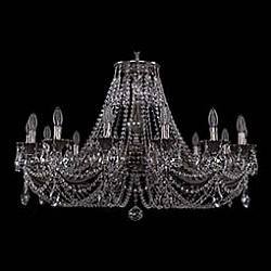 Подвесная люстра Bohemia Ivele CrystalБолее 6 ламп<br>Артикул - BI_1702_14_335_C_NB,Бренд - Bohemia Ivele Crystal (Чехия),Коллекция - 1702,Гарантия, месяцы - 24,Высота, мм - 550,Диаметр, мм - 990,Размер упаковки, мм - 710x710x240,Тип лампы - компактная люминесцентная [КЛЛ] ИЛИнакаливания ИЛИсветодиодная [LED],Общее кол-во ламп - 14,Напряжение питания лампы, В - 220,Максимальная мощность лампы, Вт - 40,Лампы в комплекте - отсутствуют,Цвет плафонов и подвесок - неокрашенный,Тип поверхности плафонов - прозрачный,Материал плафонов и подвесок - хрусталь,Цвет арматуры - никель черненый,Тип поверхности арматуры - глянцевый, рельефный,Материал арматуры - латунь,Возможность подлючения диммера - можно, если установить лампу накаливания,Форма и тип колбы - свеча ИЛИ свеча на ветру,Тип цоколя лампы - E14,Класс электробезопасности - I,Общая мощность, Вт - 560,Степень пылевлагозащиты, IP - 20,Диапазон рабочих температур - комнатная температура,Дополнительные параметры - способ крепления светильника к потолку - на крюке, указана высота светильника без подвеса<br>