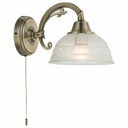 Бра GloboС 1 лампой<br>Артикул - GB_60207W,Бренд - Globo (Австрия),Коллекция - Horus,Гарантия, месяцы - 24,Высота, мм - 160,Размер упаковки, мм - 205x190x430,Тип лампы - компактная люминесцентная [КЛЛ] ИЛИнакаливания ИЛИсветодиодная [LED],Общее кол-во ламп - 1,Напряжение питания лампы, В - 220,Максимальная мощность лампы, Вт - 60,Лампы в комплекте - отсутствуют,Цвет плафонов и подвесок - белый с рисунком,Тип поверхности плафонов - матовый,Материал плафонов и подвесок - стекло,Цвет арматуры - бронза античная,Тип поверхности арматуры - глянцевый, рельефный,Материал арматуры - металл,Тип цоколя лампы - E27,Класс электробезопасности - II,Степень пылевлагозащиты, IP - 20,Диапазон рабочих температур - комнатная температура,Дополнительные параметры - способ крепления светильника к стене – на монтажной пластине, светильник предназначен для использования со скрытой проводкой<br>
