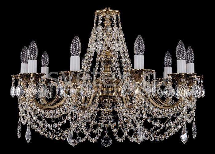Фото Подвесная люстра Bohemia Ivele Crystal 1702 1702/10/C/GB/Leafs