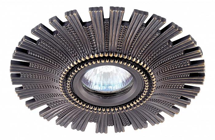 Встраиваемый светильник NovotechВстраиваемые светильники<br>Артикул - NV_369972,Бренд - Novotech (Венгрия),Коллекция - Vintage,Гарантия, месяцы - 24,Время изготовления, дней - 1,Глубина, мм - 20,Диаметр, мм - 150,Размер врезного отверстия, мм - 75,Тип лампы - галогеновая ИЛИсветодиодная [LED],Общее кол-во ламп - 1,Напряжение питания лампы, В - 12,Максимальная мощность лампы, Вт - 50,Лампы в комплекте - отсутствуют,Цвет арматуры - темная бронза,Тип поверхности арматуры - глянцевый, рельефный,Материал арматуры - алюминий,Необходимые компоненты - трансформатор 12В,Компоненты, входящие в комплект - нет,Форма и тип колбы - полусферическая с рефлектором,Тип цоколя лампы - GX5.3,Класс электробезопасности - III,Напряжение питания, В - 220,Степень пылевлагозащиты, IP - 20,Диапазон рабочих температур - комнатная температура,Дополнительные параметры - алюминиевое литье<br>