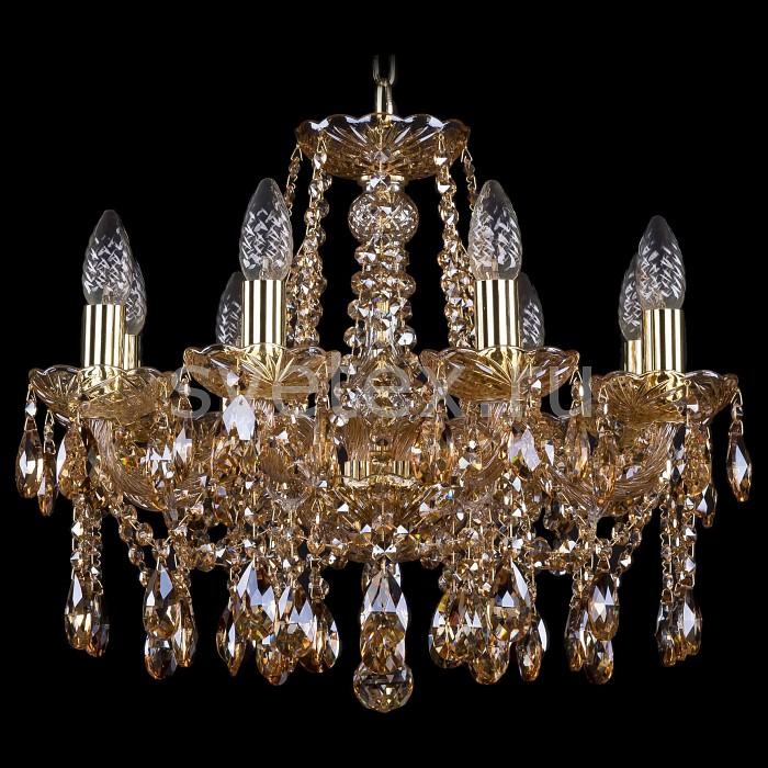 Подвесная люстра Bohemia Ivele CrystalБолее 6 ламп<br>Артикул - BI_1413_8_165_G_M721,Бренд - Bohemia Ivele Crystal (Чехия),Коллекция - 1413,Гарантия, месяцы - 24,Высота, мм - 400,Диаметр, мм - 510,Размер упаковки, мм - 450x450x200,Тип лампы - компактная люминесцентная [КЛЛ] ИЛИнакаливания ИЛИсветодиодная [LED],Общее кол-во ламп - 8,Напряжение питания лампы, В - 220,Максимальная мощность лампы, Вт - 40,Лампы в комплекте - отсутствуют,Цвет плафонов и подвесок - коньячный,Тип поверхности плафонов - прозрачный,Материал плафонов и подвесок - хрусталь,Цвет арматуры - золото, коньячный,Тип поверхности арматуры - глянцевый, прозрачный, рельефный,Материал арматуры - металл, стекло,Возможность подлючения диммера - можно, если установить лампу накаливания,Форма и тип колбы - свеча ИЛИ свеча на ветру,Тип цоколя лампы - E14,Класс электробезопасности - I,Общая мощность, Вт - 320,Степень пылевлагозащиты, IP - 20,Диапазон рабочих температур - комнатная температура,Дополнительные параметры - способ крепления светильника к потолку - на крюке, указана высота светильника без подвеса<br>