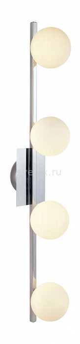 Накладной светильник GloboНастенные светильники<br>Артикул - GB_5663-4,Бренд - Globo (Австрия),Коллекция - Cardiff,Гарантия, месяцы - 24,Время изготовления, дней - 1,Длина, мм - 800,Ширина, мм - 110,Выступ, мм - 160,Размер упаковки, мм - 845x110x160,Тип лампы - галогеновая,Общее кол-во ламп - 4,Напряжение питания лампы, В - 220,Максимальная мощность лампы, Вт - 40,Цвет лампы - белый теплый,Лампы в комплекте - галогеновые G9,Цвет плафонов и подвесок - опал,Тип поверхности плафонов - матовый,Материал плафонов и подвесок - стекло,Цвет арматуры - хром,Тип поверхности арматуры - глянцевый,Материал арматуры - металл,Количество плафонов - 4,Форма и тип колбы - пальчиковая,Тип цоколя лампы - G9,Цветовая температура, K - 2800 - 3200 K,Экономичнее лампы накаливания - на 50%,Класс электробезопасности - I,Общая мощность, Вт - 160,Степень пылевлагозащиты, IP - 20,Диапазон рабочих температур - комнатная температура<br>