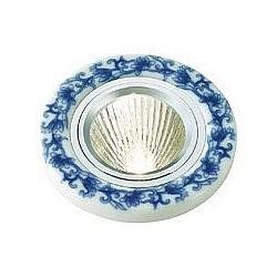 Встраиваемый светильник NovotechСветильники для натяжных потолков<br>Артикул - NV_369521,Бренд - Novotech (Венгрия),Коллекция - Gzhel,Гарантия, месяцы - 24,Диаметр, мм - 90,Тип лампы - галогеновая ИЛИсветодиодная [LED],Общее кол-во ламп - 1,Напряжение питания лампы, В - 12,Максимальная мощность лампы, Вт - 50,Лампы в комплекте - отсутствуют,Цвет плафонов и подвесок - белый с голубым рисунком,Тип поверхности плафонов - матовый,Материал плафонов и подвесок - керамика,Цвет арматуры - алюминий,Тип поверхности арматуры - глянцевый,Материал арматуры - алюминиевое литье,Возможность подлючения диммера - можно, если установить галогеновую лампу,Форма и тип колбы - полусферическая с рефлектором ИЛИполусферическая с радиатором,Тип цоколя лампы - GX5.3,Класс электробезопасности - I,Степень пылевлагозащиты, IP - 20,Диапазон рабочих температур - комнатная температура,Дополнительные параметры - возможна установка лампы GX5.3 (MR-16) на 12 В с подключением через трансформатор 12 В<br>