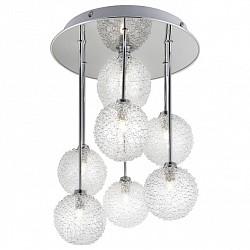 Люстра на штанге GloboБолее 6 ламп<br>Артикул - GB_5662-7,Бренд - Globo (Австрия),Коллекция - New Design,Гарантия, месяцы - 24,Время изготовления, дней - 1,Высота, мм - 440,Диаметр, мм - 320,Размер упаковки, мм - 235x440x440,Тип лампы - галогеновая,Общее кол-во ламп - 7,Напряжение питания лампы, В - 220,Максимальная мощность лампы, Вт - 40,Лампы в комплекте - галогеновые G9,Цвет плафонов и подвесок - белый,Тип поверхности плафонов - рельефный,Материал плафонов и подвесок - стекло,Цвет арматуры - хром,Тип поверхности арматуры - глянцевый,Материал арматуры - металл,Возможность подлючения диммера - можно,Форма и тип колбы - пальчиковая,Тип цоколя лампы - G9,Класс электробезопасности - I,Общая мощность, Вт - 280,Степень пылевлагозащиты, IP - 20,Диапазон рабочих температур - комнатная температура<br>