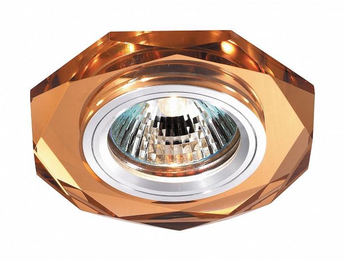 Встраиваемый светильник NovotechВстраиваемые светильники<br>Артикул - NV_369760,Бренд - Novotech (Венгрия),Коллекция - Mirror,Гарантия, месяцы - 24,Время изготовления, дней - 1,Глубина, мм - 20,Диаметр, мм - 90,Размер врезного отверстия, мм - 68,Тип лампы - галогеновая ИЛИсветодиодная [LED],Общее кол-во ламп - 1,Напряжение питания лампы, В - 12,Максимальная мощность лампы, Вт - 50,Лампы в комплекте - отсутствуют,Цвет плафонов и подвесок - янтарный,Тип поверхности плафонов - прозрачный,Материал плафонов и подвесок - хрусталь,Цвет арматуры - алюминий,Тип поверхности арматуры - глянцевый,Материал арматуры - металл,Количество плафонов - 1,Возможность подлючения диммера - можно, если установить галогеновую лампу,Форма и тип колбы - полусферическая с рефлектором ИЛИполусферическая с радиатором,Тип цоколя лампы - GX5.3,Экономичнее лампы накаливания - на 50%,Класс электробезопасности - I,Напряжение питания, В - 220,Степень пылевлагозащиты, IP - 20,Диапазон рабочих температур - комнатная температура,Дополнительные параметры - возможна установка лампы GX5.3 (MR-16) на 12 В с подключением через трансформатор 12 В<br>