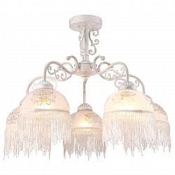 Люстра на штанге Arte Lamp5 или 6 ламп<br>Артикул - AR_A9560PL-5WG,Бренд - Arte Lamp (Италия),Коллекция - Perlina,Гарантия, месяцы - 24,Время изготовления, дней - 1,Высота, мм - 470,Диаметр, мм - 620,Тип лампы - компактная люминесцентная [КЛЛ] ИЛИнакаливания ИЛИсветодиодная [LED],Общее кол-во ламп - 5,Напряжение питания лампы, В - 220,Максимальная мощность лампы, Вт - 40,Лампы в комплекте - отсутствуют,Цвет плафонов и подвесок - белый с рисунком, неокрашенный,Тип поверхности плафонов - матовый, прозрачный,Материал плафонов и подвесок - стекло,Цвет арматуры - белый, золото,Тип поверхности арматуры - глянцевый,Материал арматуры - металл,Возможность подлючения диммера - можно, если установить лампу накаливания,Тип цоколя лампы - E27,Класс электробезопасности - I,Общая мощность, Вт - 200,Степень пылевлагозащиты, IP - 20,Диапазон рабочих температур - комнатная температура,Дополнительные параметры - способ крепления светильника к потолку – на монтажной пластине<br>