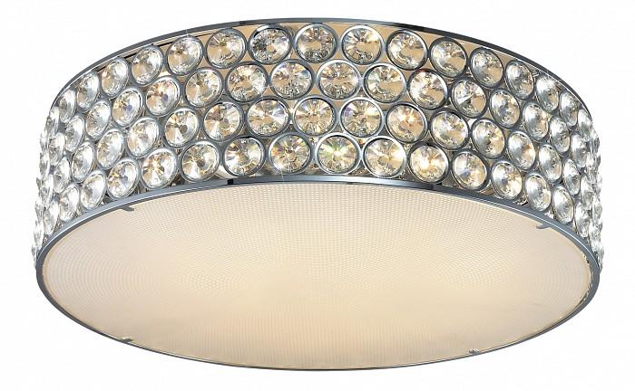 Накладной светильник Odeon LightКруглые<br>Артикул - OD_2758_9C,Бренд - Odeon Light (Италия),Коллекция - Eveta,Гарантия, месяцы - 24,Время изготовления, дней - 1,Высота, мм - 180,Диаметр, мм - 540,Тип лампы - галогеновая,Общее кол-во ламп - 9,Напряжение питания лампы, В - 220,Максимальная мощность лампы, Вт - 42,Цвет лампы - белый теплый,Лампы в комплекте - галогеновые G9,Цвет плафонов и подвесок - белый, неокрашенный,Тип поверхности плафонов - матовый, прозрачный,Материал плафонов и подвесок - стекло, хрусталь,Цвет арматуры - хром,Тип поверхности арматуры - глянцевый,Материал арматуры - металл,Количество плафонов - 1,Возможность подлючения диммера - можно,Форма и тип колбы - пальчиковая,Тип цоколя лампы - G9,Цветовая температура, K - 2800 - 3200 K,Экономичнее лампы накаливания - на 50%,Класс электробезопасности - I,Общая мощность, Вт - 378,Степень пылевлагозащиты, IP - 20,Диапазон рабочих температур - комнатная температура<br>