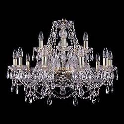 Подвесная люстра Bohemia Ivele CrystalБолее 6 ламп<br>Артикул - BI_1411_10_5_240_G,Бренд - Bohemia Ivele Crystal (Чехия),Коллекция - 1411,Гарантия, месяцы - 24,Высота, мм - 530,Диаметр, мм - 670,Размер упаковки, мм - 510x510x200,Тип лампы - компактная люминесцентная [КЛЛ] ИЛИнакаливания ИЛИсветодиодная [LED],Общее кол-во ламп - 15,Напряжение питания лампы, В - 220,Максимальная мощность лампы, Вт - 40,Лампы в комплекте - отсутствуют,Цвет плафонов и подвесок - неокрашенный,Тип поверхности плафонов - прозрачный,Материал плафонов и подвесок - хрусталь,Цвет арматуры - золото, неокрашенный,Тип поверхности арматуры - глянцевый, прозрачный, рельефный,Материал арматуры - металл, стекло,Возможность подлючения диммера - можно, если установить лампу накаливания,Форма и тип колбы - свеча ИЛИ свеча на ветру,Тип цоколя лампы - E14,Класс электробезопасности - I,Общая мощность, Вт - 600,Степень пылевлагозащиты, IP - 20,Диапазон рабочих температур - комнатная температура,Дополнительные параметры - способ крепления светильника к потолку - на крюке, указана высота светильника без подвеса<br>