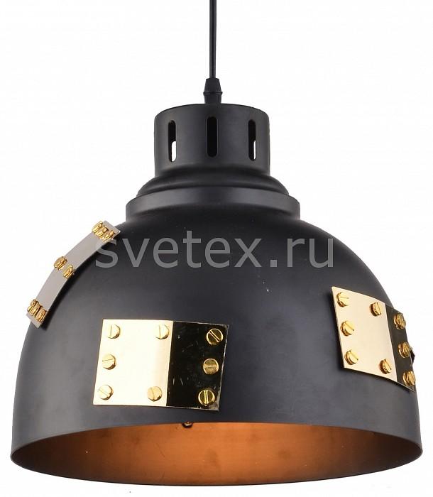 Подвесной светильник Arte LampБарные<br>Артикул - AR_A6024SP-1BK,Бренд - Arte Lamp (Италия),Коллекция - Eurica,Гарантия, месяцы - 24,Высота, мм - 210-1210,Диаметр, мм - 250,Размер упаковки, мм - 270x280x280,Тип лампы - компактная люминесцентная [КЛЛ] ИЛИнакаливания ИЛИсветодиодная [LED],Общее кол-во ламп - 1,Напряжение питания лампы, В - 220,Максимальная мощность лампы, Вт - 60,Лампы в комплекте - отсутствуют,Цвет плафонов и подвесок - золото, черный,Тип поверхности плафонов - матовый,Материал плафонов и подвесок - металл,Цвет арматуры - черный,Тип поверхности арматуры - матовый,Материал арматуры - металл,Количество плафонов - 1,Возможность подлючения диммера - можно, если установить лампу накаливания,Тип цоколя лампы - E27,Класс электробезопасности - I,Степень пылевлагозащиты, IP - 20,Диапазон рабочих температур - комнатная температура,Дополнительные параметры - способ крепления светильника к потолку - на монтажной пластине, светильник регулируется по высоте<br>