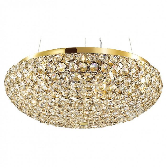Подвесной светильник FavouriteПодвесные светильники<br>Артикул - FV_1691-7P,Бренд - Favourite (Германия),Коллекция - Sunshine,Гарантия, месяцы - 24,Высота, мм - 1200,Диаметр, мм - 460,Тип лампы - галогеновая ИЛИсветодиодная [LED],Общее кол-во ламп - 7,Напряжение питания лампы, В - 220,Максимальная мощность лампы, Вт - 40,Лампы в комплекте - отсутствуют,Цвет плафонов и подвесок - неокрашенный,Тип поверхности плафонов - прозрачный, рельефный,Материал плафонов и подвесок - хрусталь,Цвет арматуры - золото,Тип поверхности арматуры - глянцевый,Материал арматуры - металл,Количество плафонов - 1,Возможность подлючения диммера - можно, если установить галогеновую лампу,Форма и тип колбы - пальчиковая,Тип цоколя лампы - G9,Класс электробезопасности - I,Общая мощность, Вт - 280,Степень пылевлагозащиты, IP - 20,Диапазон рабочих температур - комнатная температура,Дополнительные параметры - способ крепления светильника к потолку - на монтажной пластине<br>