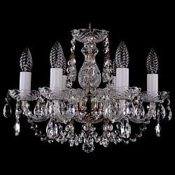 Подвесная люстра Bohemia Ivele Crystal5 или 6 ламп<br>Артикул - BI_1406_6_141_Pa,Бренд - Bohemia Ivele Crystal (Чехия),Коллекция - 1406,Гарантия, месяцы - 24,Высота, мм - 340,Диаметр, мм - 440,Размер упаковки, мм - 450x450x200,Тип лампы - компактная люминесцентная [КЛЛ] ИЛИнакаливания ИЛИсветодиодная [LED],Общее кол-во ламп - 6,Напряжение питания лампы, В - 220,Максимальная мощность лампы, Вт - 40,Лампы в комплекте - отсутствуют,Цвет плафонов и подвесок - неокрашенный,Тип поверхности плафонов - прозрачный,Материал плафонов и подвесок - хрусталь,Цвет арматуры - неокрашенный, патина,Тип поверхности арматуры - глянцевый, прозрачный,Материал арматуры - металл, стекло,Возможность подлючения диммера - можно, если установить лампу накаливания,Форма и тип колбы - свеча,Тип цоколя лампы - E14,Класс электробезопасности - I,Общая мощность, Вт - 240,Степень пылевлагозащиты, IP - 20,Диапазон рабочих температур - комнатная температура,Дополнительные параметры - способ крепления светильника к потолку – на крюке<br>