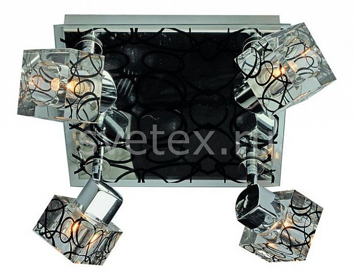 Спот OmniluxКвадратные<br>Артикул - OM_OML-22601-04,Бренд - Omnilux (Италия),Коллекция - OM-226,Гарантия, месяцы - 24,Время изготовления, дней - 1,Длина, мм - 250,Ширина, мм - 250,Выступ, мм - 150,Тип лампы - галогеновая ИЛИсветодиодная [LED],Общее кол-во ламп - 4,Напряжение питания лампы, В - 220,Максимальная мощность лампы, Вт - 40,Лампы в комплекте - отсутствуют,Цвет плафонов и подвесок - неокрашенный с черным рисунком,Тип поверхности плафонов - прозрачный,Материал плафонов и подвесок - стекло,Цвет арматуры - неокрашенный с черным рисунком, черный,Тип поверхности арматуры - глянцевый,Материал арматуры - стекло, металл,Количество плафонов - 4,Возможность подлючения диммера - можно, если установить галогеновую лампу,Форма и тип колбы - пальчиковая,Тип цоколя лампы - G9,Экономичнее лампы накаливания - на 50%,Класс электробезопасности - I,Общая мощность, Вт - 160,Степень пылевлагозащиты, IP - 20,Диапазон рабочих температур - комнатная температура,Дополнительные параметры - поворотный светильник<br>