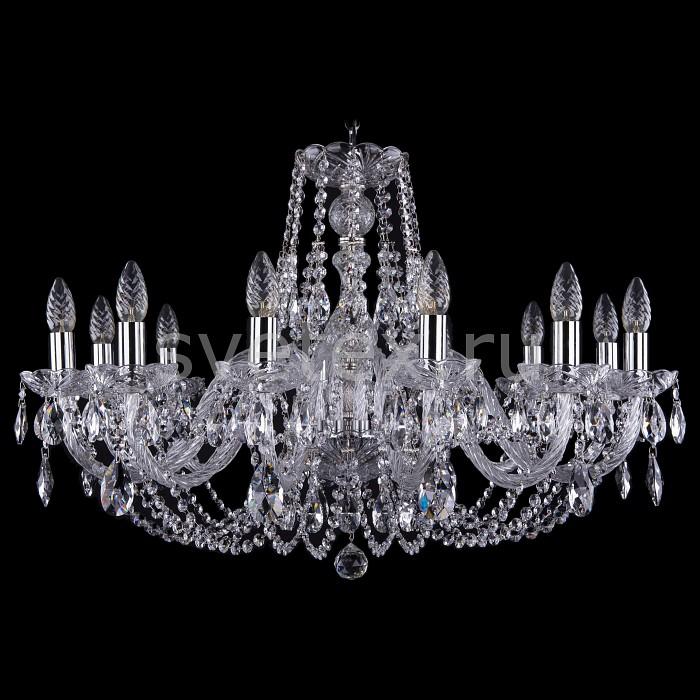 Подвесная люстра Bohemia Ivele CrystalБолее 6 ламп<br>Артикул - BI_1406_12_300_Ni,Бренд - Bohemia Ivele Crystal (Чехия),Коллекция - 1406,Гарантия, месяцы - 24,Высота, мм - 530,Диаметр, мм - 820,Размер упаковки, мм - 710x710x350,Тип лампы - компактная люминесцентная [КЛЛ] ИЛИнакаливания ИЛИсветодиодная [LED],Общее кол-во ламп - 12,Напряжение питания лампы, В - 220,Максимальная мощность лампы, Вт - 40,Лампы в комплекте - отсутствуют,Цвет плафонов и подвесок - неокрашенный,Тип поверхности плафонов - прозрачный,Материал плафонов и подвесок - хрусталь,Цвет арматуры - неокрашенный, никель,Тип поверхности арматуры - глянцевый, прозрачный, рельефный,Материал арматуры - металл, стекло,Возможность подлючения диммера - можно, если установить лампу накаливания,Форма и тип колбы - свеча ИЛИ свеча на ветру,Тип цоколя лампы - E14,Класс электробезопасности - I,Общая мощность, Вт - 480,Степень пылевлагозащиты, IP - 20,Диапазон рабочих температур - комнатная температура,Дополнительные параметры - способ крепления светильника к потолку - на крюке, указана высота светильника без подвеса<br>