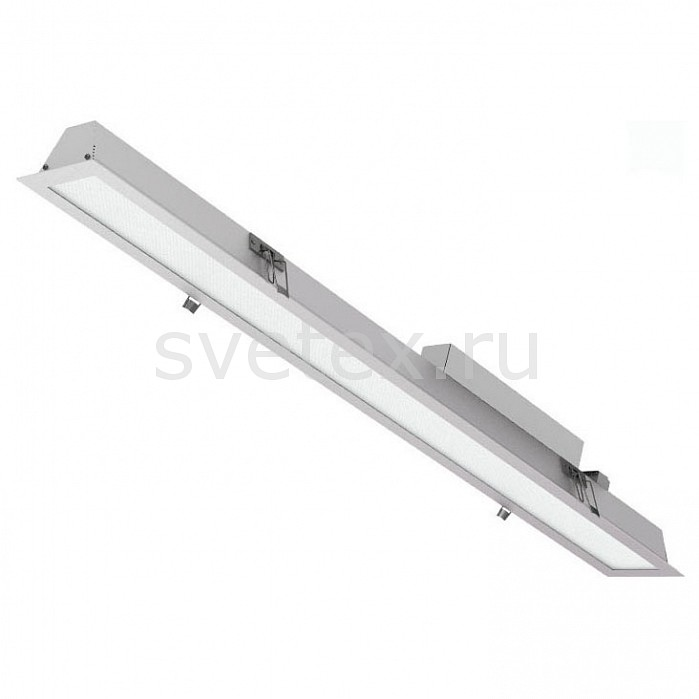 Встраиваемый светильник Led EffectСветильники<br>Артикул - LED_409297,Бренд - Led Effect (Россия),Коллекция - Ритейл,Гарантия, месяцы - 36,Длина, мм - 1490,Ширина, мм - 115,Глубина, мм - 94,Размер упаковки, мм - 1570x130x95,Тип лампы - светодиодная [LED],Общее кол-во ламп - 1,Максимальная мощность лампы, Вт - 40,Цвет лампы - белый теплый,Лампы в комплекте - светодиодная [LED],Цвет плафонов и подвесок - белый,Тип поверхности плафонов - матовый,Материал плафонов и подвесок - полимер,Цвет арматуры - серый,Тип поверхности арматуры - матовый,Материал арматуры - металл,Количество плафонов - 1,Цветовая температура, K - 3000 K,Световой поток, лм - 2900,Экономичнее лампы накаливания - В 4, 9 раза,Светоотдача, лм/Вт - 73,Ресурс лампы - 50 тыс. час.,Класс электробезопасности - I,Напряжение питания, В - 175-260,Коэффициент мощности - 0.9,Степень пылевлагозащиты, IP - 20,Диапазон рабочих температур - от -0^C до +45^C,Индекс цветопередачи, % - 80,Пульсации светового потока, % менее - 1,Климатическое исполнение - УХЛ 4,Дополнительные параметры - текстурированный рассеиватель<br>