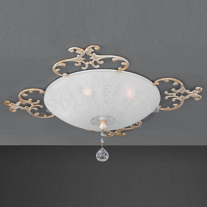Накладной светильник La LampadaКруглые<br>Артикул - LL_PL.7258-5.17,Бренд - La Lampada (Италия),Коллекция - 7258,Гарантия, месяцы - 24,Высота, мм - 200,Диаметр, мм - 640,Тип лампы - компактная люминесцентная [КЛЛ] ИЛИнакаливания ИЛИсветодиодная [LED],Общее кол-во ламп - 5,Напряжение питания лампы, В - 220,Максимальная мощность лампы, Вт - 60,Лампы в комплекте - отсутствуют,Цвет плафонов и подвесок - белый с рисунком,Тип поверхности плафонов - матовый,Материал плафонов и подвесок - стекло,Цвет арматуры - золото, слоновая кость,Тип поверхности арматуры - матовый, рельефный,Материал арматуры - металл,Количество плафонов - 1,Возможность подлючения диммера - можно, если установить галогеновую лампу,Тип цоколя лампы - E14,Класс электробезопасности - I,Общая мощность, Вт - 300,Степень пылевлагозащиты, IP - 20,Диапазон рабочих температур - комнатная температура,Дополнительные параметры - способ крепления светильника к потолку – на монтажной пластине<br>