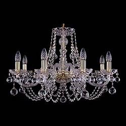Подвесная люстра Bohemia Ivele CrystalБолее 6 ламп<br>Артикул - BI_1406_8_240_G_Balls,Бренд - Bohemia Ivele Crystal (Чехия),Коллекция - 1406,Гарантия, месяцы - 24,Высота, мм - 460,Диаметр, мм - 700,Размер упаковки, мм - 710x710x350,Тип лампы - компактная люминесцентная [КЛЛ] ИЛИнакаливания ИЛИсветодиодная [LED],Общее кол-во ламп - 8,Напряжение питания лампы, В - 220,Максимальная мощность лампы, Вт - 40,Лампы в комплекте - отсутствуют,Цвет плафонов и подвесок - неокрашенный,Тип поверхности плафонов - прозрачный,Материал плафонов и подвесок - хрусталь,Цвет арматуры - золото, неокрашенный,Тип поверхности арматуры - глянцевый, прозрачный, рельефный,Материал арматуры - металл, стекло,Возможность подлючения диммера - можно, если установить лампу накаливания,Форма и тип колбы - свеча ИЛИ свеча на ветру,Тип цоколя лампы - E14,Класс электробезопасности - I,Общая мощность, Вт - 320,Степень пылевлагозащиты, IP - 20,Диапазон рабочих температур - комнатная температура,Дополнительные параметры - способ крепления светильника к потолку - на крюке, указана высота светильника без подвеса<br>