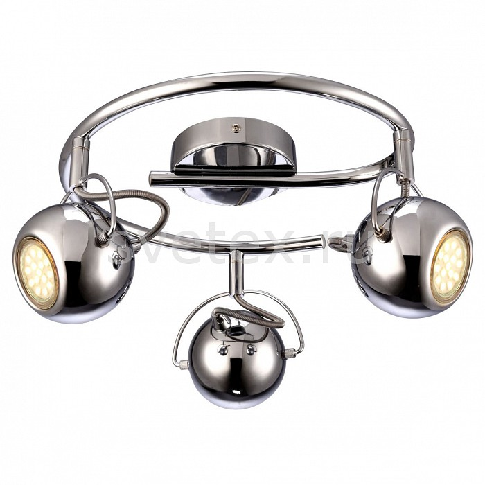 Спот Arte LampСпоты<br>Артикул - AR_A9128PL-3CC,Бренд - Arte Lamp (Италия),Коллекция - Spia,Гарантия, месяцы - 24,Выступ, мм - 180,Диаметр, мм - 350,Тип лампы - галогеновая ИЛИсветодиодная [LED],Общее кол-во ламп - 3,Напряжение питания лампы, В - 220,Максимальная мощность лампы, Вт - 50,Лампы в комплекте - отсутствуют,Цвет плафонов и подвесок - хром,Тип поверхности плафонов - глянцевый,Материал плафонов и подвесок - металл,Цвет арматуры - хром,Тип поверхности арматуры - глянцевый,Материал арматуры - металл,Количество плафонов - 3,Возможность подлючения диммера - можно, если установить галогеновую лампу,Форма и тип колбы - полусферическая с рефлектором,Тип цоколя лампы - GU10,Класс электробезопасности - I,Общая мощность, Вт - 150,Степень пылевлагозащиты, IP - 20,Диапазон рабочих температур - комнатная температура,Дополнительные параметры - способ крепления светильника к стене и потолку - на монтажной пластине, повоторный светильник<br>