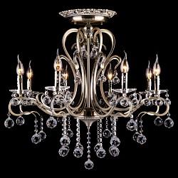 Люстра на штанге StrotskisБолее 6 ламп<br>Артикул - EV_5975,Бренд - Strotskis (Китай),Коллекция - 12505,Гарантия, месяцы - 24,Высота, мм - 760,Диаметр, мм - 730,Тип лампы - компактная люминесцентная [КЛЛ] ИЛИнакаливания ИЛИсветодиодная [LED],Общее кол-во ламп - 8,Напряжение питания лампы, В - 220,Максимальная мощность лампы, Вт - 40,Лампы в комплекте - отсутствуют,Цвет плафонов и подвесок - неокрашенный,Тип поверхности плафонов - прозрачный,Материал плафонов и подвесок - хрусталь Strotskis,Цвет арматуры - бронза античная,Тип поверхности арматуры - матовый,Материал арматуры - металл,Возможность подлючения диммера - можно, если установить галогеновую лампу и лампу накаливания,Тип цоколя лампы - E14,Общая мощность, Вт - 320,Степень пылевлагозащиты, IP - 20,Диапазон рабочих температур - комнатная температура<br>