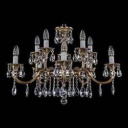Подвесная люстра Bohemia Ivele CrystalБолее 6 ламп<br>Артикул - BI_1702_5_5_265_110_A_GB,Бренд - Bohemia Ivele Crystal (Чехия),Коллекция - 1702,Гарантия, месяцы - 12,Высота, мм - 500,Диаметр, мм - 750,Размер упаковки, мм - 710x710x350,Тип лампы - компактная люминесцентная [КЛЛ] ИЛИнакаливания ИЛИсветодиодная [LED],Общее кол-во ламп - 10,Напряжение питания лампы, В - 220,Максимальная мощность лампы, Вт - 40,Лампы в комплекте - отсутствуют,Цвет плафонов и подвесок - неокрашенный,Тип поверхности плафонов - прозрачный,Материал плафонов и подвесок - хрусталь,Цвет арматуры - золото черненое,Тип поверхности арматуры - глянцевый, рельефный,Материал арматуры - металл,Возможность подлючения диммера - можно, если установить лампу накаливания,Форма и тип колбы - свеча ИЛИ свеча на ветру,Тип цоколя лампы - E14,Класс электробезопасности - I,Общая мощность, Вт - 400,Степень пылевлагозащиты, IP - 20,Диапазон рабочих температур - комнатная температура,Дополнительные параметры - способ крепления светильника к потолку – на крюке<br>