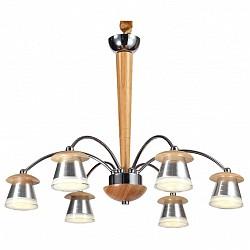 Подвесная люстра Lucia TucciМеталлические плафоны<br>Артикул - LT_Natura_158.6,Бренд - Lucia Tucci (Италия),Коллекция - Natura,Гарантия, месяцы - 24,Высота, мм - 790,Диаметр, мм - 560,Тип лампы - светодиодная [LED],Общее кол-во ламп - 6,Напряжение питания лампы, В - 220,Максимальная мощность лампы, Вт - 5,Лампы в комплекте - светодиодные [LED],Цвет плафонов и подвесок - белый, хром,Тип поверхности плафонов - глянцевый, матовый,Материал плафонов и подвесок - акрил, металл,Цвет арматуры - сосна, хром,Тип поверхности арматуры - глянцевый, матовый,Материал арматуры - дерево, металл,Возможность подлючения диммера - нельзя,Класс электробезопасности - I,Общая мощность, Вт - 30,Степень пылевлагозащиты, IP - 20,Диапазон рабочих температур - комнатная температура,Дополнительные параметры - регулируется по высоте,  способ крепления светильника к потолку – на крюке<br>