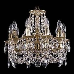 Подвесная люстра Bohemia Ivele CrystalБолее 6 ламп<br>Артикул - BI_1707_10_125_C_GD,Бренд - Bohemia Ivele Crystal (Чехия),Коллекция - 1707,Гарантия, месяцы - 24,Высота, мм - 420,Диаметр, мм - 460,Размер упаковки, мм - 450x450x200,Тип лампы - компактная люминесцентная [КЛЛ] ИЛИнакаливания ИЛИсветодиодная [LED],Общее кол-во ламп - 10,Напряжение питания лампы, В - 220,Максимальная мощность лампы, Вт - 40,Лампы в комплекте - отсутствуют,Цвет плафонов и подвесок - неокрашенный,Тип поверхности плафонов - прозрачный,Материал плафонов и подвесок - хрусталь,Цвет арматуры - золото,Тип поверхности арматуры - глянцевый, рельефный,Материал арматуры - латунь,Возможность подлючения диммера - можно, если установить лампу накаливания,Форма и тип колбы - свеча ИЛИ свеча на ветру,Тип цоколя лампы - E14,Класс электробезопасности - I,Общая мощность, Вт - 400,Степень пылевлагозащиты, IP - 20,Диапазон рабочих температур - комнатная температура,Дополнительные параметры - способ крепления светильника к потолку - на крюке, указана высота светильника без подвеса<br>