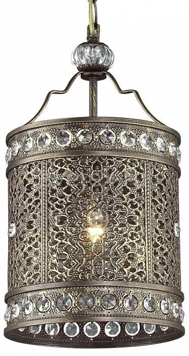 Подвесной светильник FavouriteБарные<br>Артикул - FV_1626-1P,Бренд - Favourite (Германия),Коллекция - Karma,Гарантия, месяцы - 24,Высота, мм - 440-1175,Диаметр, мм - 198,Тип лампы - компактная люминесцентная [КЛЛ] ИЛИнакаливания ИЛИсветодиодная [LED],Общее кол-во ламп - 1,Напряжение питания лампы, В - 220,Максимальная мощность лампы, Вт - 60,Лампы в комплекте - отсутствуют,Цвет плафонов и подвесок - коричневый, неокрашенный,Тип поверхности плафонов - матовый, прозрачный,Материал плафонов и подвесок - металл, хрусталь,Цвет арматуры - коричневый,Тип поверхности арматуры - матовый,Материал арматуры - металл,Количество плафонов - 1,Возможность подлючения диммера - можно, если установить лампу накаливания,Тип цоколя лампы - E27,Класс электробезопасности - I,Степень пылевлагозащиты, IP - 20,Диапазон рабочих температур - комнатная температура,Дополнительные параметры - способ крепления светильника к потолку - на монтажной пластине, регулируется по высоте<br>