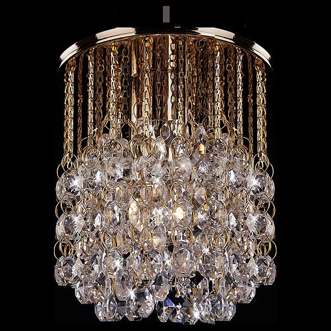 Фото Подвесной светильник Eurosvet 3121 3121/1 золото/прозрачный хрусталь Strotskis