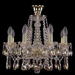 Подвесная люстра Bohemia Ivele CrystalБолее 6 ламп<br>Артикул - BI_1413_8_165_G_K701,Бренд - Bohemia Ivele Crystal (Чехия),Коллекция - 1413,Гарантия, месяцы - 24,Высота, мм - 400,Диаметр, мм - 510,Размер упаковки, мм - 450x450x200,Тип лампы - компактная люминесцентная [КЛЛ] ИЛИнакаливания ИЛИсветодиодная [LED],Общее кол-во ламп - 8,Напряжение питания лампы, В - 220,Максимальная мощность лампы, Вт - 40,Лампы в комплекте - отсутствуют,Цвет плафонов и подвесок - неокрашенный,Тип поверхности плафонов - прозрачный,Материал плафонов и подвесок - хрусталь Swarovski,Цвет арматуры - золото, неокрашенный,Тип поверхности арматуры - глянцевый, прозрачный, рельефный,Материал арматуры - металл, стекло Swarovski,Возможность подлючения диммера - можно, если установить лампу накаливания,Форма и тип колбы - свеча ИЛИ свеча на ветру,Тип цоколя лампы - E14,Класс электробезопасности - I,Общая мощность, Вт - 320,Степень пылевлагозащиты, IP - 20,Диапазон рабочих температур - комнатная температура,Дополнительные параметры - способ крепления светильника к потолку - на крюке, указана высота светильника без подвеса<br>