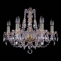 Подвесная люстра Bohemia Ivele Crystal5 или 6 ламп<br>Артикул - BI_1406_6_195,Бренд - Bohemia Ivele Crystal (Чехия),Коллекция - 1406,Гарантия, месяцы - 24,Время изготовления, дней - 1,Высота, мм - 410,Диаметр, мм - 580,Размер упаковки, мм - 450x450x200,Тип лампы - компактная люминесцентная [КЛЛ] ИЛИнакаливания ИЛИсветодиодная [LED],Общее кол-во ламп - 6,Напряжение питания лампы, В - 220,Максимальная мощность лампы, Вт - 40,Лампы в комплекте - отсутствуют,Цвет плафонов и подвесок - неокрашенный,Тип поверхности плафонов - прозрачный,Материал плафонов и подвесок - хрусталь,Цвет арматуры - золото, неокрашенный,Тип поверхности арматуры - глянцевый, прозрачный,Материал арматуры - металл, стекло,Возможность подлючения диммера - можно, если установить лампу накаливания,Форма и тип колбы - свеча,Тип цоколя лампы - E14,Класс электробезопасности - I,Общая мощность, Вт - 240,Степень пылевлагозащиты, IP - 20,Диапазон рабочих температур - комнатная температура,Дополнительные параметры - способ крепления светильника к потолку – на крюке<br>