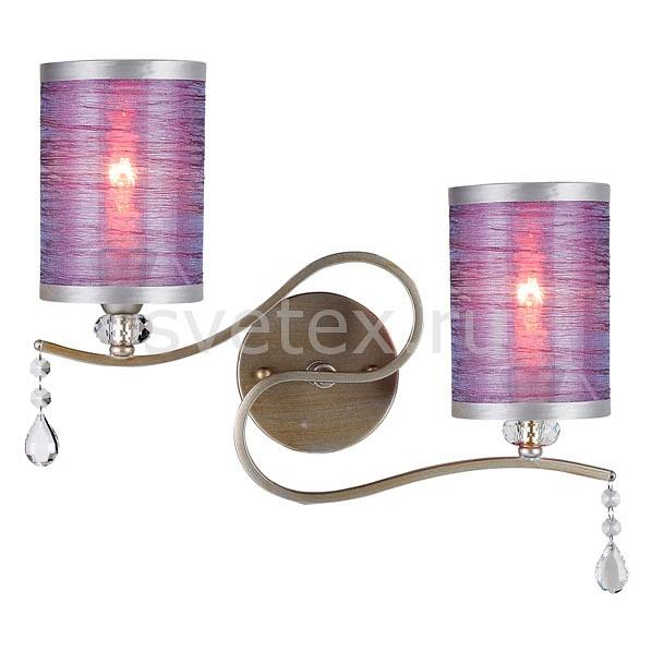 Бра Crystal LuxСветодиодные<br>Артикул - CU_1630_402,Бренд - Crystal Lux (Испания),Коллекция - Elisa,Гарантия, месяцы - 24,Ширина, мм - 407,Высота, мм - 347,Выступ, мм - 144,Тип лампы - компактная люминесцентная [КЛЛ] ИЛИнакаливания ИЛИсветодиодная [LED],Общее кол-во ламп - 2,Напряжение питания лампы, В - 220,Максимальная мощность лампы, Вт - 60,Лампы в комплекте - отсутствуют,Цвет плафонов и подвесок - неокрашенный, фиолетовый с каймой,Тип поверхности плафонов - матовый, прозрачный,Материал плафонов и подвесок - полимер, текстиль, хрусталь,Цвет арматуры - золото, серебро,Тип поверхности арматуры - глянцевый,Материал арматуры - металл,Количество плафонов - 2,Возможность подлючения диммера - можно, если установить лампу накаливания,Тип цоколя лампы - E14,Класс электробезопасности - I,Общая мощность, Вт - 120,Степень пылевлагозащиты, IP - 20,Диапазон рабочих температур - комнатная температура,Дополнительные параметры - способ крепления светильника – на монтажной пластине, светильник предназначен для использования со скрытой проводкой<br>