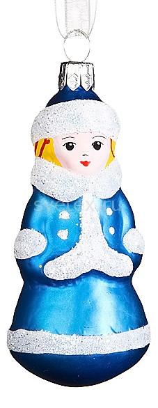 Елочная игрушка АРТИ-МЕлочные игрушки<br>Артикул - art_860-128,Бренд - АРТИ-М (Россия),Коллекция - Снегурочка,Высота, мм - 80,Цвет - синий,Материал - стекло<br>