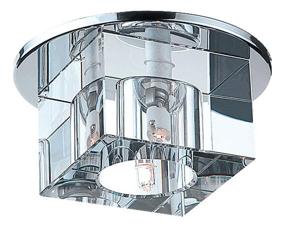 Встраиваемый светильник NovotechКруглые<br>Артикул - NV_369226,Бренд - Novotech (Венгрия),Коллекция - Cubic,Гарантия, месяцы - 24,Время изготовления, дней - 1,Глубина, мм - 40,Диаметр, мм - 110,Размер врезного отверстия, мм - 80,Тип лампы - галогеновая ИЛИсветодиодная [LED],Общее кол-во ламп - 1,Напряжение питания лампы, В - 220,Максимальная мощность лампы, Вт - 40,Лампы в комплекте - отсутствуют,Цвет плафонов и подвесок - неокрашенный,Тип поверхности плафонов - прозрачный,Материал плафонов и подвесок - оптическое стекло,Цвет арматуры - хром,Тип поверхности арматуры - глянцевый,Материал арматуры - металл,Количество плафонов - 1,Возможность подлючения диммера - можно, если установить галогеновую лампу,Форма и тип колбы - пальчиковая,Тип цоколя лампы - G9,Экономичнее лампы накаливания - на 50%,Класс электробезопасности - I,Степень пылевлагозащиты, IP - 20,Диапазон рабочих температур - комнатная температура<br>