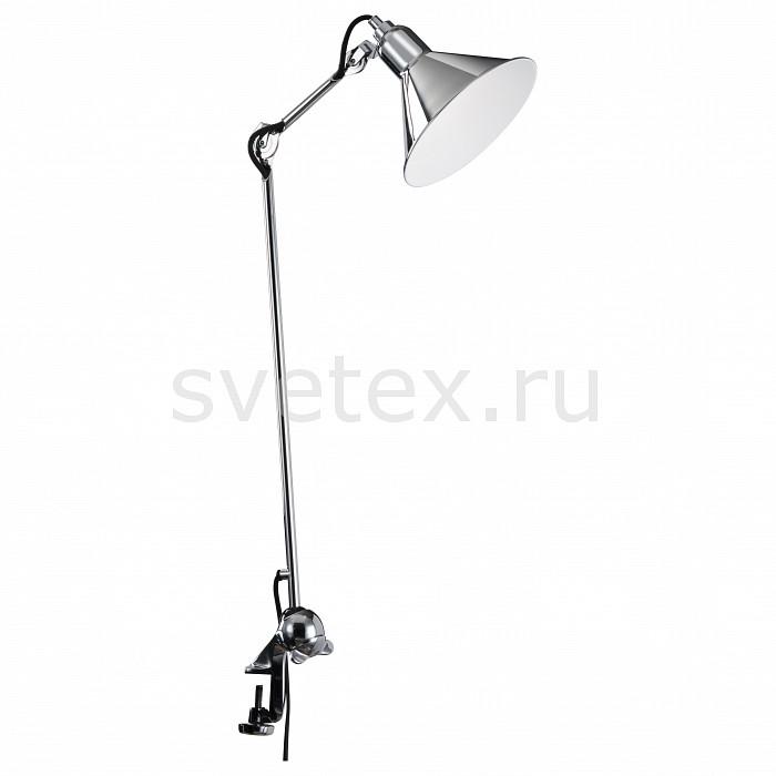 Настольная лампа LightstarНа струбцине<br>Артикул - LS_765924,Бренд - Lightstar (Италия),Коллекция - LS-76,Гарантия, месяцы - 24,Время изготовления, дней - 1,Ширина, мм - 210,Высота, мм - 1095-3380,Выступ, мм - 977-219,Диаметр, мм - 210,Тип лампы - компактная люминесцентная [КЛЛ] ИЛИнакаливания ИЛИсветодиодная [LED],Общее кол-во ламп - 1,Напряжение питания лампы, В - 220,Максимальная мощность лампы, Вт - 40,Лампы в комплекте - отсутствуют,Цвет плафонов и подвесок - хром,Тип поверхности плафонов - глянцевый,Материал плафонов и подвесок - металл,Цвет арматуры - хром,Тип поверхности арматуры - глянцевый,Материал арматуры - металл,Количество плафонов - 1,Наличие выключателя, диммера или пульта ДУ - выключатель на проводе,Компоненты, входящие в комплект - провод электропитания с вилкой без заземления,Тип цоколя лампы - E14,Класс электробезопасности - II,Степень пылевлагозащиты, IP - 20,Диапазон рабочих температур - комнатная температура,Дополнительные параметры - поворотный светильник на струбцине, диаметр плафона 21 см<br>