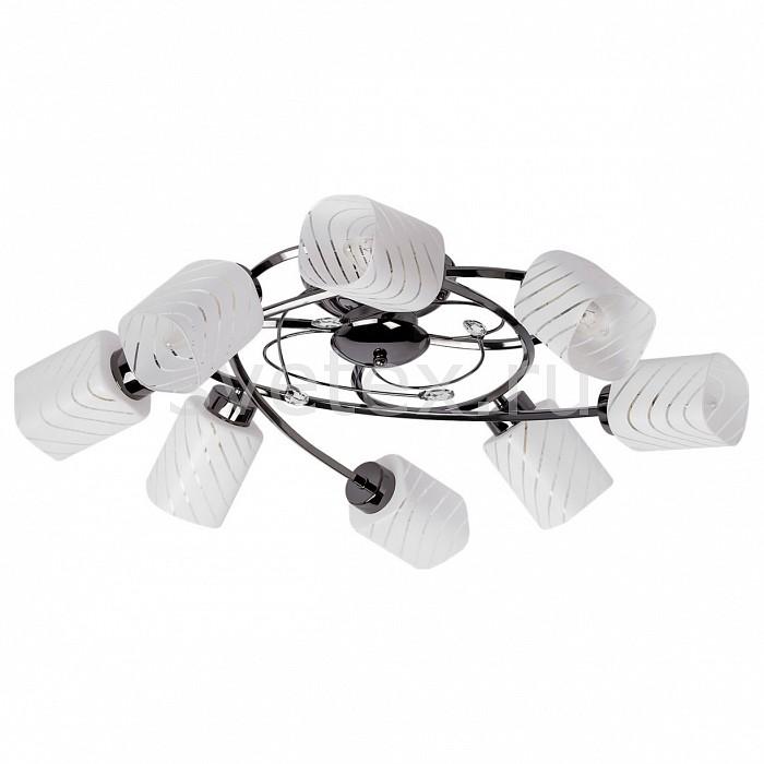 Потолочная люстра MW-LightЛюстры<br>Артикул - MW_638011008,Бренд - MW-Light (Германия),Коллекция - Олимпия 2,Гарантия, месяцы - 12,Высота, мм - 250,Диаметр, мм - 680,Размер упаковки, мм - 500x520x180,Тип лампы - компактная люминесцентная [КЛЛ] ИЛИнакаливания ИЛИсветодиодная [LED],Общее кол-во ламп - 8,Напряжение питания лампы, В - 220,Максимальная мощность лампы, Вт - 60,Лампы в комплекте - отсутствуют,Цвет плафонов и подвесок - белый полосатый, неокрашенный,Тип поверхности плафонов - матовый, прозрачный,Материал плафонов и подвесок - стекло, хрусталь,Цвет арматуры - никель,Тип поверхности арматуры - матовый,Материал арматуры - металл,Количество плафонов - 8,Возможность подлючения диммера - можно, если установить лампу накаливания,Тип цоколя лампы - E14,Класс электробезопасности - I,Общая мощность, Вт - 480,Степень пылевлагозащиты, IP - 20,Диапазон рабочих температур - комнатная температура,Дополнительные параметры - способ крепления светильника к потолку – на монтажной пластине<br>