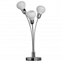Настольная лампа MW-LightСтеклянный плафон<br>Артикул - MW_632032003,Бренд - MW-Light (Германия),Коллекция - Гэлэкси 7,Гарантия, месяцы - 24,Высота, мм - 570,Диаметр, мм - 150,Размер упаковки, мм - 230x180x540,Тип лампы - светодиодная [LED],Общее кол-во ламп - 3,Максимальная мощность лампы, Вт - 4,Лампы в комплекте - светодиодные [LED],Цвет плафонов и подвесок - белый,Тип поверхности плафонов - матовый,Материал плафонов и подвесок - акрил, стекло,Цвет арматуры - хром,Тип поверхности арматуры - глянцевый,Материал арматуры - металл,Класс электробезопасности - II,Общая мощность, Вт - 12,Степень пылевлагозащиты, IP - 20,Диапазон рабочих температур - комнатная температура<br>