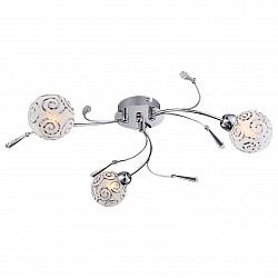 Потолочная люстра GloboПолимерные плафоны<br>Артикул - GB_56392-3D,Бренд - Globo (Австрия),Коллекция - Orlene,Гарантия, месяцы - 24,Высота, мм - 130,Диаметр, мм - 540,Тип лампы - галогеновая,Общее кол-во ламп - 3,Напряжение питания лампы, В - 220,Максимальная мощность лампы, Вт - 28,Лампы в комплекте - галогеновые G9,Цвет плафонов и подвесок - белый с неокрашенным рисунком, неокрашенный,Тип поверхности плафонов - матовый,Материал плафонов и подвесок - акрил, стекло,Цвет арматуры - хром,Тип поверхности арматуры - глянцевый,Материал арматуры - металл,Возможность подлючения диммера - можно,Форма и тип колбы - пальчиковая,Тип цоколя лампы - G9,Класс электробезопасности - I,Общая мощность, Вт - 84,Степень пылевлагозащиты, IP - 20,Диапазон рабочих температур - комнатная температура<br>