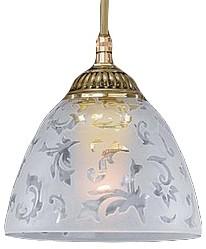 Подвесной светильник Reccagni AngeloСветодиодные<br>Артикул - RA_L_6352_14,Бренд - Reccagni Angelo (Италия),Коллекция - 6352,Гарантия, месяцы - 24,Высота, мм - 140-1240,Диаметр, мм - 140,Тип лампы - компактная люминесцентная [КЛЛ] ИЛИнакаливания ИЛИсветодиодная [LED],Общее кол-во ламп - 1,Напряжение питания лампы, В - 220,Максимальная мощность лампы, Вт - 60,Лампы в комплекте - отсутствуют,Цвет плафонов и подвесок - неокрашенный с рисунком,Тип поверхности плафонов - матовый,Материал плафонов и подвесок - стекло,Цвет арматуры - золото французское,Тип поверхности арматуры - глянцевый, рельефный,Материал арматуры - латунь,Количество плафонов - 1,Возможность подлючения диммера - можно, если установить лампу накаливания,Тип цоколя лампы - E27,Класс электробезопасности - I,Степень пылевлагозащиты, IP - 20,Диапазон рабочих температур - комнатная температура,Дополнительные параметры - способ крепления светильника к потолку - на крюке, регулируется по высоте<br>