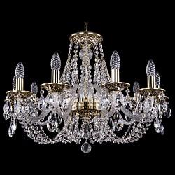Подвесная люстра Bohemia Ivele CrystalБолее 6 ламп<br>Артикул - BI_1606_10_240_GB,Бренд - Bohemia Ivele Crystal (Чехия),Коллекция - 1606,Гарантия, месяцы - 24,Высота, мм - 460,Диаметр, мм - 700,Размер упаковки, мм - 710x710x350,Тип лампы - компактная люминесцентная [КЛЛ] ИЛИнакаливания ИЛИсветодиодная [LED],Общее кол-во ламп - 10,Напряжение питания лампы, В - 220,Максимальная мощность лампы, Вт - 40,Лампы в комплекте - отсутствуют,Цвет плафонов и подвесок - неокрашенный,Тип поверхности плафонов - прозрачный,Материал плафонов и подвесок - хрусталь,Цвет арматуры - золото черненое, неокрашенный,Тип поверхности арматуры - глянцевый, прозрачный, рельефный,Материал арматуры - латунь, стекло,Возможность подлючения диммера - можно, если установить лампу накаливания,Форма и тип колбы - свеча ИЛИ свеча на ветру,Тип цоколя лампы - E14,Класс электробезопасности - I,Общая мощность, Вт - 400,Степень пылевлагозащиты, IP - 20,Диапазон рабочих температур - комнатная температура,Дополнительные параметры - способ крепления светильника к потолку - на крюке, указана высота светильника без подвеса<br>