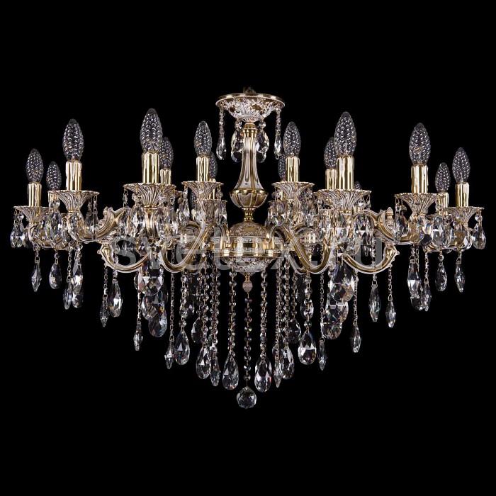 Подвесная люстра Bohemia Ivele CrystalБолее 6 ламп<br>Артикул - BI_1703_18_225_125_B_GW,Бренд - Bohemia Ivele Crystal (Чехия),Коллекция - 1703,Гарантия, месяцы - 24,Высота, мм - 490,Диаметр, мм - 960,Размер упаковки, мм - 710x710x260,Тип лампы - компактная люминесцентная [КЛЛ] ИЛИнакаливания ИЛИсветодиодная [LED],Общее кол-во ламп - 18,Напряжение питания лампы, В - 220,Максимальная мощность лампы, Вт - 40,Лампы в комплекте - отсутствуют,Цвет плафонов и подвесок - неокрашенный,Тип поверхности плафонов - прозрачный,Материал плафонов и подвесок - хрусталь,Цвет арматуры - золото с белой патиной,Тип поверхности арматуры - глянцевый,Материал арматуры - металл,Возможность подлючения диммера - можно, если установить лампу накаливания,Форма и тип колбы - свеча ИЛИ свеча на ветру,Тип цоколя лампы - E14,Класс электробезопасности - I,Общая мощность, Вт - 720,Степень пылевлагозащиты, IP - 20,Диапазон рабочих температур - комнатная температура,Дополнительные параметры - способ крепления светильника к потолку - на крюке, указана высота светильники без подвеса<br>
