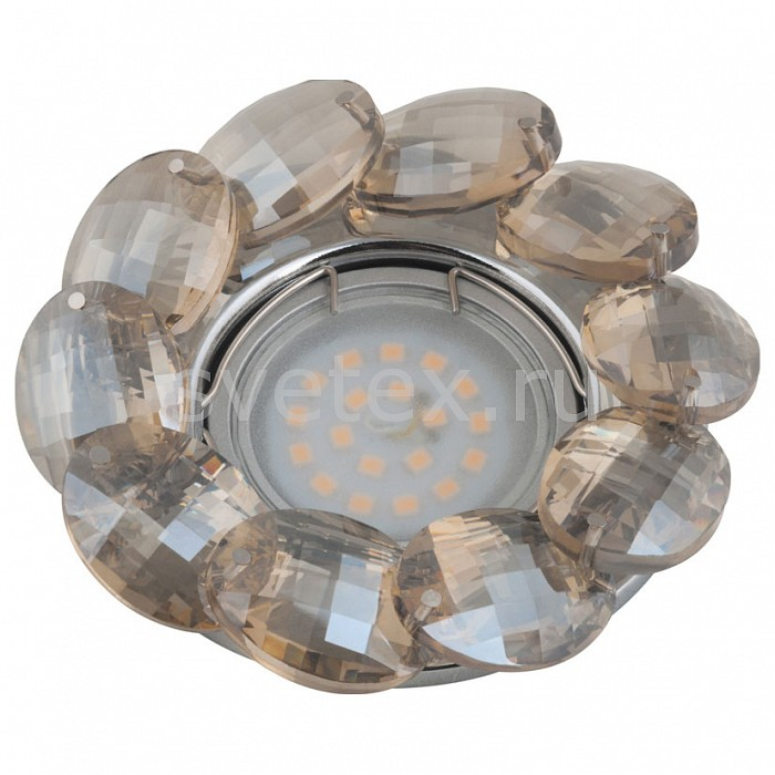 Встраиваемый светильник UnielСтеклянные<br>Примечание - коньячный,Артикул - UL_10548,Бренд - Uniel (Китай),Коллекция - Peonia,Гарантия, месяцы - 24,Высота, мм - 50,Выступ, мм - 20,Глубина, мм - 30,Диаметр, мм - 95,Размер врезного отверстия, мм - d55,Тип лампы - светодиодная (LED), галогеновая,Общее кол-во ламп - 1,Напряжение питания лампы, В - 12,Максимальная мощность лампы, Вт - 50,Лампы в комплекте - отсутствуют,Цвет плафонов и подвесок - коньячный,Тип поверхности плафонов - прозрачный,Материал плафонов и подвесок - стекло,Цвет арматуры - хром,Тип поверхности арматуры - глянцевый,Материал арматуры - металл,Возможность подлючения диммера - можно, если установить галогеновую лампу,Компоненты, входящие в комплект - Трансформатор 12 В,Форма и тип колбы - полусферическая с рефлектором,Тип цоколя лампы - GU5.3,Класс электробезопасности - I,Напряжение питания, В - 220,Степень пылевлагозащиты, IP - 20,Диапазон рабочих температур - комнатная температура<br>