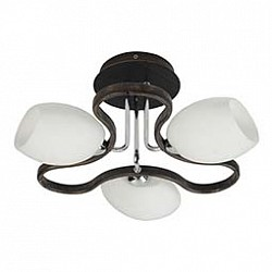 Потолочная люстра MobitluxНе более 4 ламп<br>Артикул - MB_601.01,Бренд - Mobitlux (Австрия),Коллекция - MB-601,Гарантия, месяцы - 24,Время изготовления, дней - 1,Высота, мм - 220,Диаметр, мм - 430,Тип лампы - компактная люминесцентная [КЛЛ] ИЛИнакаливания ИЛИсветодиодная [LED],Общее кол-во ламп - 3,Напряжение питания лампы, В - 220,Максимальная мощность лампы, Вт - 60,Лампы в комплекте - отсутствуют,Цвет плафонов и подвесок - белый с каймой,Тип поверхности плафонов - матовый,Материал плафонов и подвесок - стекло,Цвет арматуры - черный,Тип поверхности арматуры - матовый,Материал арматуры - металл,Возможность подлючения диммера - можно, если установить лампу накаливания,Тип цоколя лампы - E14,Класс электробезопасности - I,Общая мощность, Вт - 180,Степень пылевлагозащиты, IP - 20,Диапазон рабочих температур - комнатная температура<br>