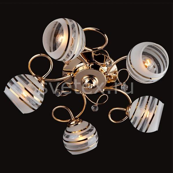 Фото Потолочная люстра Eurosvet 9134 9134/5 золото/белый