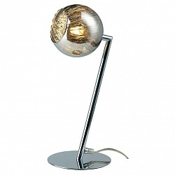 Настольная лампа BrilliantСтеклянный плафон<br>Артикул - BT_G70747_20,Бренд - Brilliant (Германия),Коллекция - Jewel,Гарантия, месяцы - 24,Высота, мм - 370,Тип лампы - галогеновая,Общее кол-во ламп - 1,Напряжение питания лампы, В - 220,Максимальная мощность лампы, Вт - 42,Лампы в комплекте - галогеновые G9,Цвет плафонов и подвесок - коричневый,Тип поверхности плафонов - прозрачный, рельефный,Материал плафонов и подвесок - стекло,Цвет арматуры - хром,Тип поверхности арматуры - глянцевый,Материал арматуры - металл,Форма и тип колбы - пальчиковая,Тип цоколя лампы - G9,Класс электробезопасности - II,Степень пылевлагозащиты, IP - 20,Диапазон рабочих температур - комнатная температура<br>