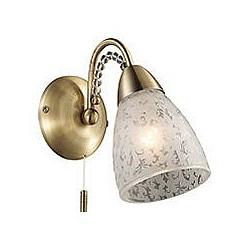 Бра Odeon LightС 1 лампой<br>Артикул - OD_2541_1W,Бренд - Odeon Light (Италия),Коллекция - Mariot,Гарантия, месяцы - 24,Время изготовления, дней - 1,Высота, мм - 180,Тип лампы - компактная люминесцентная [КЛЛ] ИЛИнакаливания ИЛИсветодиодная [LED],Общее кол-во ламп - 1,Напряжение питания лампы, В - 220,Максимальная мощность лампы, Вт - 40,Лампы в комплекте - отсутствуют,Цвет плафонов и подвесок - неокрашенный с рисунком, неокрашенный,Тип поверхности плафонов - матовый,Материал плафонов и подвесок - стекло, хрусталь,Цвет арматуры - бронза,Тип поверхности арматуры - глянцевый, рельефный,Материал арматуры - металл,Возможность подлючения диммера - можно, если установить лампу накаливания,Тип цоколя лампы - E14,Класс электробезопасности - I,Степень пылевлагозащиты, IP - 20,Диапазон рабочих температур - комнатная температура,Дополнительные параметры - светильник предназначен для использования со скрытой проводкой<br>